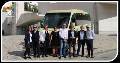 Autocares Rivero, miembro del grupo Vázquez Olmedo, presenta un nuevo vehículo para Álora